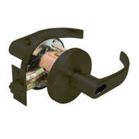 W571BD-Q-613 Falcon W Series Cylindrical Dormitory/Corridor Lock with Quantum Lever Style in Oil Rubbed Bronze Finish