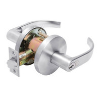 W501GD-Q-625 Falcon W Series Cylindrical Entry Lock with Quantum Lever Style in Bright Chrome Finish