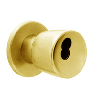 X521BD-EG-605 Falcon X Series Cylindrical Office Lock with Elite-Gala Knob Style in Bright Brass Finish