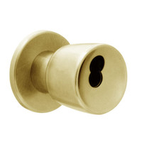 X521BD-EG-606 Falcon X Series Cylindrical Office Lock with Elite-Gala Knob Style in Satin Brass Finish