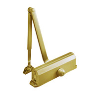 J1601-696 Norton 1600 Series Non Hold Open Adjustable Door Closer with Top Jamb-Reveals 2-3/4 to 7 in Satin Brass Painted Finish