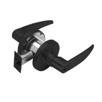 T521GD-A-622 Falcon T Series Cylindrical Office Lock with Avalon Lever Style Prepped for SFIC in Matte Black Finish