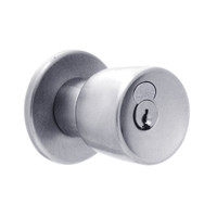 X501GD-EG-626 Falcon X Series Cylindrical Entry Lock with Elite-Gala Knob Style in Satin Chrome Finish