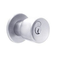 X521GD-EG-625 Falcon X Series Cylindrical Office Lock with Elite-Gala Knob Style in Bright Chrome Finish