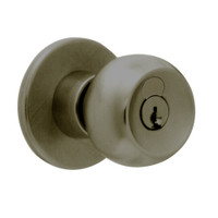 X581GD-TG-613 Falcon X Series Cylindrical Storeroom Lock with Troy-Gala Knob Style in Oil Rubbed Bronze Finish