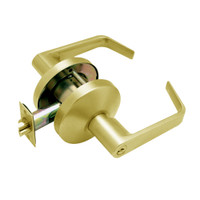 B511PD-D-605 Falcon B Series Single Cylinder Entry/Office Lock with Dane Lever Style in Bright Brass Finish