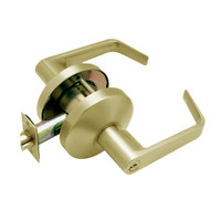 B511PD-D-606 Falcon B Series Single Cylinder Entry/Office Lock with Dane Lever Style in Satin Brass Finish