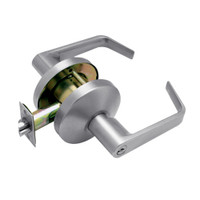 B611PD-D-626 Falcon B Series Single Cylinder Dormitory/Corridor Lock with Dane Lever Style in Satin Chrome Finish