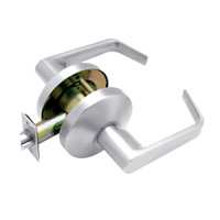 B101S-D-625 Falcon B Series Non-Keyed Cylinder Passage Lock with Dane Lever Style in Bright Chrome Finish