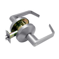 B301S-D-626 Falcon B Series Non-Keyed Cylinder Privacy Lock with Dane Lever Style in Satin Chrome Finish