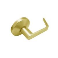 B12-D-605 Falcon B Series Non-Keyed Half Dummy Cylinder with Dane Lever Style in Bright Brass Finish
