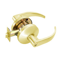 B511PD-Q-605 Falcon B Series Single Cylinder Entry/Office Lock with Quantum Lever Style in Bright Brass Finish
