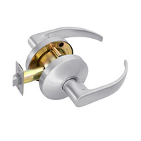 B101S-Q-626 Falcon B Series Non-Keyed Cylinder Passage Lock with Quantum Lever Style in Satin Chrome Finish