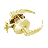 B101S-Q-605 Falcon B Series Non-Keyed Cylinder Passage Lock with Quantum Lever Style in Bright Brass Finish