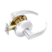 B101S-Q-625 Falcon B Series Non-Keyed Cylinder Passage Lock with Quantum Lever Style in Bright Chrome Finish