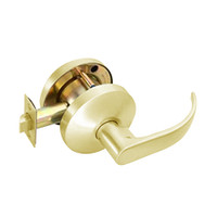 B161D-Q-606 Falcon B Series Non-Keyed Cylinder Communicating Latch with Quantum Lever Style in Satin Brass Finish