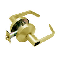 B511BD-D-605 Falcon B Series Single Cylinder Entry/Office Lock with Dane Lever Style in Bright Brass Finish