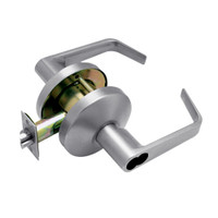 B581BD-D-626 Falcon B Series Single Cylinder Storeroom Lock with Dane Lever Style in Satin Chrome Finish