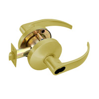 B501BD-Q-606 Falcon B Series Single Cylinder Entry Lock with Quantum Lever Style in Satin Brass Finish