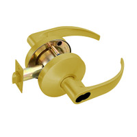 B581BD-Q-605 Falcon B Series Single Cylinder Storeroom Lock with Quantum Lever Style in Bright Brass Finish