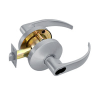 B611BD-Q-626 Falcon B Series Single Cylinder Dormitory/Corridor Lock with Quantum Lever Style in Satin Chrome Finish