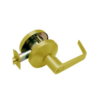 B341GD-D-606 Falcon B Series Single Cylinder Connecting/Exit Lock with Dane Lever Style in Satin Brass Finish