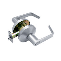 B581GD-D-626 Falcon B Series Single Cylinder Storeroom Lock with Dane Lever Style in Satin Chrome Finish