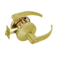 B501GD-Q-606 Falcon B Series Single Cylinder Entry Lock with Quantum Lever Style in Satin Brass Finish