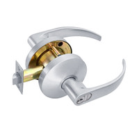B501GD-Q-625 Falcon B Series Single Cylinder Entry Lock with Quantum Lever Style in Bright Chrome Finish