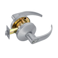 B581GD-Q-626 Falcon B Series Single Cylinder Storeroom Lock with Quantum Lever Style in Satin Chrome Finish