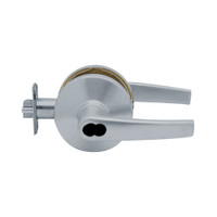 K581BD-A-626 Falcon K Series Single Cylinder Storeroom Lock with Avalon Lever Style in Satin Chrome Finish