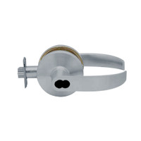 K581BD-Q-626 Falcon K Series Single Cylinder Storeroom Lock with Quantum Lever Style in Satin Chrome Finish