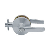 K571GD-A-626 Falcon K Series Single Cylinder Dormitory/Corridor Lock with Avalon Lever Style in Satin Chrome Finish