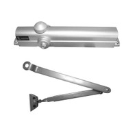 8101-689 Norton 8000 Series Non-Hold Open Door Closers with Regular Parallel and Top Jamb to 3 inch Reveal in Aluminum Finish
