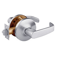 28-10U65-GL-26D Sargent 10 Line Cylindrical Privacy Locks with L Lever Design and G Rose in Satin Chrome