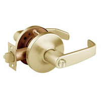 28-10U68-GL-04 Sargent 10 Line Cylindrical Hospital Privacy Locks with L Lever Design and G Rose in Satin Brass