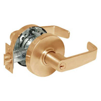 28-10G54-LL-10 Sargent 10 Line Cylindrical Dormitory Locks with L Lever Design and L Rose in Dull Bronze