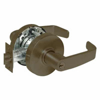28-10G54-LL-10B Sargent 10 Line Cylindrical Dormitory Locks with L Lever Design and L Rose in Oxidized Dull Bronze