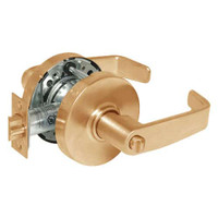 28-10U68-LL-10 Sargent 10 Line Cylindrical Hospital Privacy Locks with L Lever Design and L Rose in Dull Bronze