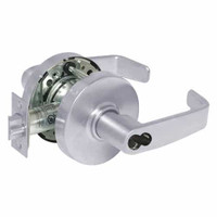 2860-10G54-LL-26 Sargent 10 Line Cylindrical Dormitory Locks with L Lever Design and L Rose Prepped for LFIC in Bright Chrome