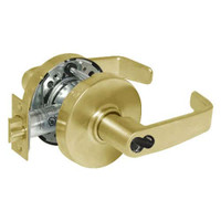 2860-10G54-LL-03 Sargent 10 Line Cylindrical Dormitory Locks with L Lever Design and L Rose Prepped for LFIC in Bright Brass