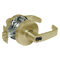 2870-10G17-LL-04 Sargent 10 Line Cylindrical Institutional Locks with L Lever Design and L Rose Prepped for SFIC in Satin Brass