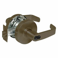 2870-10G26-LL-10B Sargent 10 Line Cylindrical Storeroom Locks with L Lever Design and L Rose Prepped for SFIC in Oxidized Dull Bronze