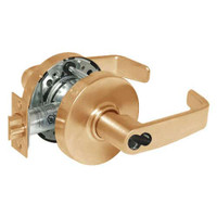 2870-10G38-LL-10 Sargent 10 Line Cylindrical Classroom Locks with L Lever Design and L Rose Prepped for SFIC in Dull Bronze