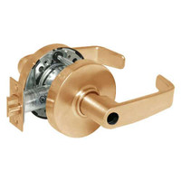 28LC-10G37-LL-10 Sargent 10 Line Cylindrical Classroom Locks with L Lever Design and L Rose Less Cylinder in Dull Bronze