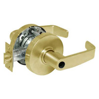 28LC-10G54-LL-03 Sargent 10 Line Cylindrical Dormitory Locks with L Lever Design and L Rose Less Cylinder in Bright Brass