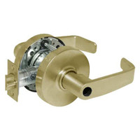 28LC-10G16-LL-04 Sargent 10 Line Cylindrical Classroom Locks with L Lever Design and L Rose Less Cylinder in Satin Brass