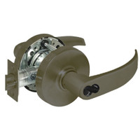 2860-10G54-LP-10B Sargent 10 Line Cylindrical Dormitory Locks with P Lever Design and L Rose Prepped for LFIC in Oxidized Dull Bronze