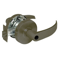28LC-10G38-LP-10B Sargent 10 Line Cylindrical Classroom Locks with P Lever Design and L Rose Less Cylinder in Oxidized Dull Bronze