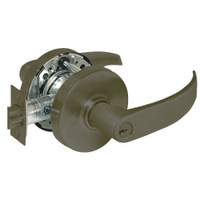 28-10G37-LP-10B Sargent 10 Line Cylindrical Classroom Locks with P Lever Design and L Rose in Oxidized Dull Bronze